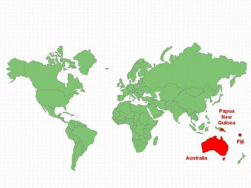 World map showing countries which use AV and which do not use AV