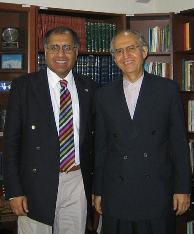 Photo of Mohammed Amin with Professor Kamali