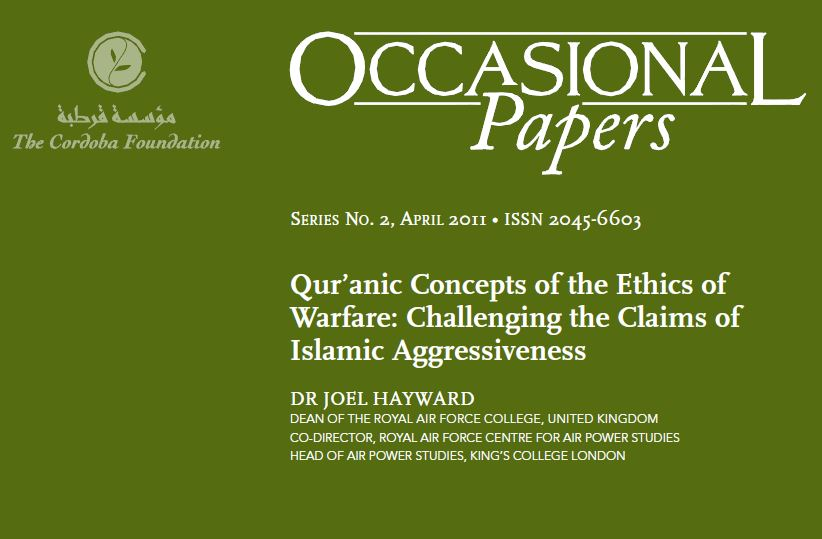 Image of cover of Quranic Concepts of the ethics of warfare